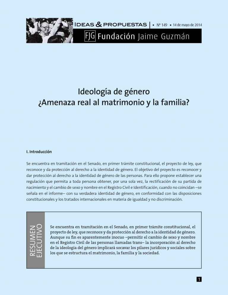 Ideología de Género ¿Amenaza real al ..
